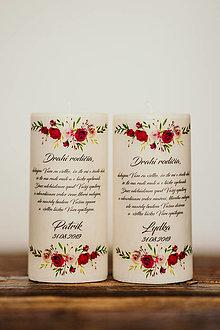 Darčeky pre svadobčanov - Poďakovanie svadobným rodičom - Vzor č.5- Sviečka z palmového vosku - 11036326_