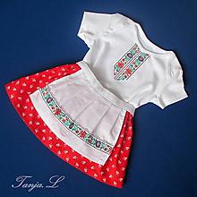 Detské oblečenie - detský ľudový odev - kroj bejby na 1 mesiac až 2 roky - 11038341_