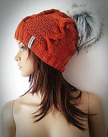 Čiapky - Horčicová čiapka - vrkoče ;) - 11037204_
