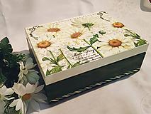 "Krabičky - Čajová krabička ""Nežné margarétky"" - 11038233_"
