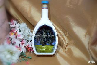 Nádoby - sklenená fľaša Strom života :) - 11039221_