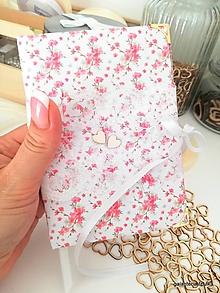Papiernictvo - Zápisník Svadobný plánovač kvetinkový A6 - 11036366_