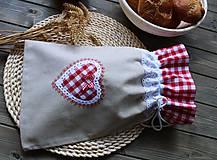 Úžitkový textil - Vrečúško na pečivo-vidiecke - 11038138_