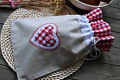 Úžitkový textil - Vrečúško na pečivo-vidiecke - 11038140_