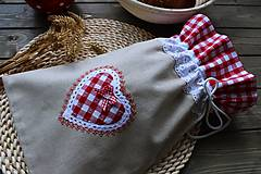 Úžitkový textil - Vrečúško na pečivo-vidiecke - 11038145_