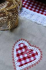 Úžitkový textil - Vrečúško na pečivo-vidiecke - 11038149_