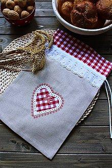 Úžitkový textil - Vrečúško na pečivo-vidiecke - 11038144_