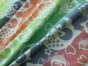 Textil - Natibaby Magical Owls Rainbow Love - 11036261_
