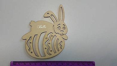 Polotovary - Drevený výrez Veľkonočný zajačik - 11039856_