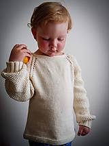 Detské oblečenie - Detský pletený svetrík vol. 4 - 11039332_