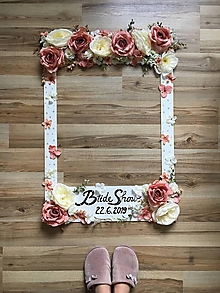 Darčeky pre svadobčanov - Svadobný rámik na fotenie - 11036649_