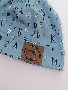 Detské súpravy - Tenká úpletová čiapka so šálom (tunel) - limitovaná kolekcia pre školáčku/predškoláčku (Modrá) - 11036841_