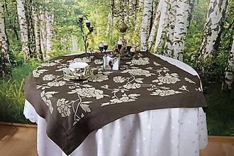 Úžitkový textil - Obrus v hnedom tóne - 11037370_