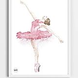 Detské doplnky - Art Print - ružová baletka - 11037790_