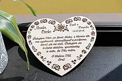 Dekorácie - Poďakovanie rodičom folk - 11039782_