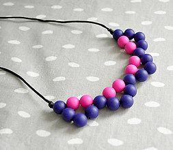 Náhrdelníky - Silikónový náhrdelník Berries - 11037193_