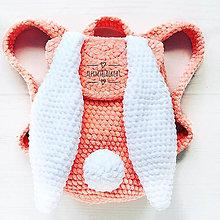 Detské tašky - Detský Háčkované plyšový batôžtek kralik zajačik - 11036461_
