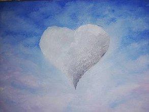 Obrazy - Srdce v oblakoch - 11037823_