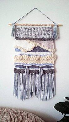 Dekorácie - Ručne tkaná vlnená tapiséria (cca 37x70 cm) - 11036644_