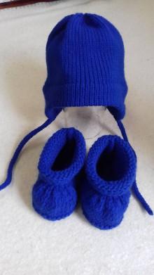 Detské súpravy - Čiapka s papučkami - 11036343_