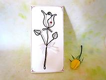 Papiernictvo - zlatá ruža * Pohľadnica (Biela) - 11038508_