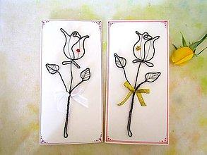 Papiernictvo - zlatá ruža * Pohľadnica (Zlatá) - 11038520_