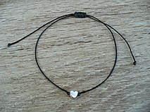 Náramky - jednoduchý šnúrkový náramok  - 11038805_
