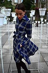 Šaty - Košilové kárované šaty HANA - 11040325_