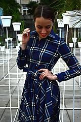 Šaty - Košilové kárované šaty HANA - 11040330_