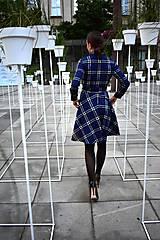 Šaty - Košilové kárované šaty HANA - 11040331_