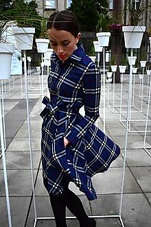 Šaty - HANA, kárované košilové šaty - 11040325_