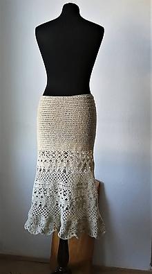 Sukne - Sukňa z farmárskej jahňacej vlny - 11042126_