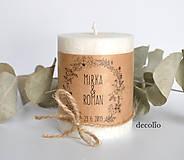 Svietidlá a sviečky - Darček pre hostí #34 - 11040930_