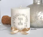 Svietidlá a sviečky - Darček pre hostí #34 - 11040945_
