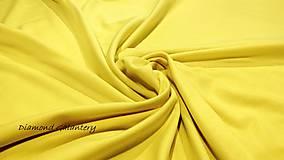 Textil - Úplet tunelový -žltý cena za 10 centimetrov - 11041846_