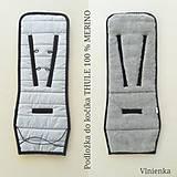 Textil - VLNIENKA podložka do kočíka THULE 100% MERINO wool ATELIER GREY and GREY - 11040636_