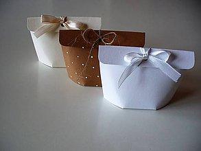 Krabičky - svadobný mini ekopack s klopou - 11040324_