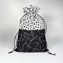 Úžitkový textil - Veselé bavlnené vrecúško (súhvezdie a hviezdičky //) - 11043027_