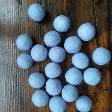 Iný materiál - Plstené guličky  nebeská modrá 10 ks - 11042638_