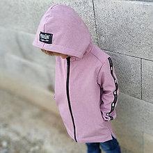 Detské oblečenie - Detská sofshell bunda - ružová - 11040808_