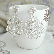 Náušnice - Diamond lace (Strieborná) - 11040098_