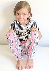 Detské oblečenie - legíny z biobavlny Šteniatka (ružové) (veľ.104-116) - 11042370_