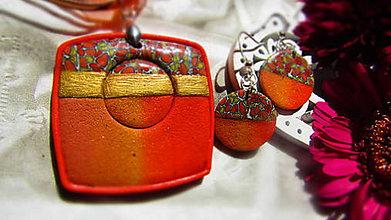 Sady šperkov - Set v oranžovom tóne - 11043201_