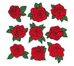 Galantéria - NZ119 Nažehľovačky ružičky 22x21,8 cm - 11041738_