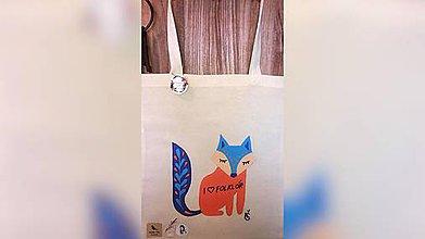 Iné tašky - ♥ Plátená, ručne maľovaná taška ♥ - 11040160_