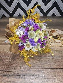 Dekorácie - Kytica zo sušených kvetov - 11042749_