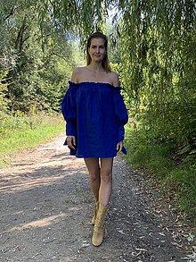 Šaty - Bavlnené šaty NAVY - 11039944_