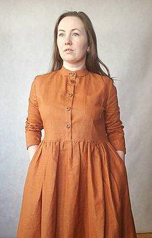 Šaty - Šaty lněné - 11042689_
