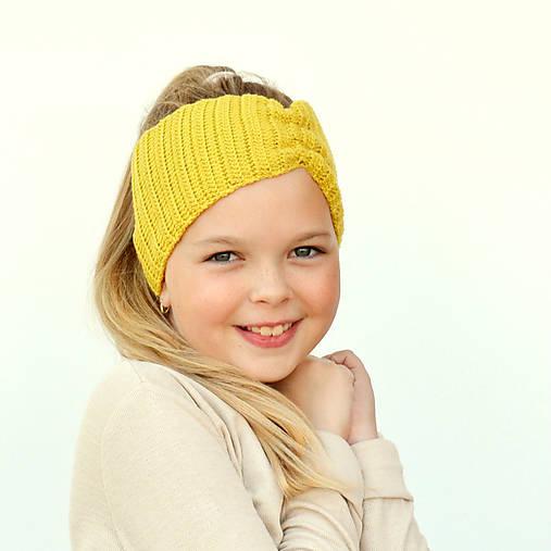 Merino čelenka žltá + 42 farieb