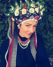 Ozdoby do vlasov - Folklórna parta kvetinová - 11042974_